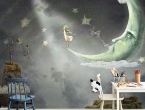 Ώρα θαυμάτων και μαγείας Παιδικά Ταπετσαρίες Τοίχου 100 x 100 εκ.