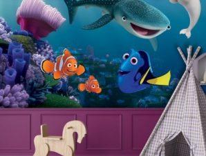 Bailey, Destiny, Nemo, Marlin & Dory Παιδικά Ταπετσαρίες Τοίχου 100 x 100 εκ.