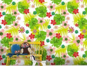Jungle, Minnie Mouse! Παιδικά Ταπετσαρίες Τοίχου 100 x 100 εκ.