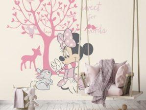 Minnie Mouse under the tree! Παιδικά Ταπετσαρίες Τοίχου 100 x 100 εκ.