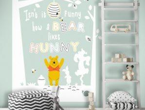 Isn't it funny how a bear likes hunny, Winnie the Pooh Παιδικά Ταπετσαρίες Τοίχου 100 x 100 εκ.
