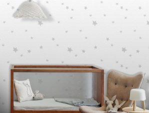 Μοτίβο με αστέρια, Mickey Mouse! Παιδικά Ταπετσαρίες Τοίχου 100 x 100 εκ.