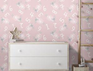 Μοτίβο με προβατάκια, Mickey Mouse! Παιδικά Ταπετσαρίες Τοίχου 100 x 100 εκ.