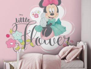 Little Minnie Flowers, Minnie Mouse! Παιδικά Ταπετσαρίες Τοίχου 100 x 100 εκ.