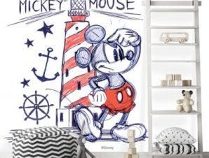 Ο Mickey Mouse δίπλα στον φάρο! Παιδικά Ταπετσαρίες Τοίχου 100 x 100 εκ.