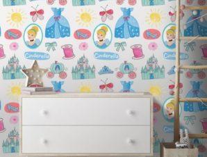 Clothes of Cinderella! Παιδικά Ταπετσαρίες Τοίχου 100 x 100 εκ.