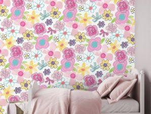 Flowers, princess Παιδικά Ταπετσαρίες Τοίχου 100 x 100 εκ.