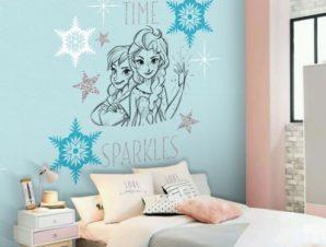 Spring time Sparkles, Frozen !! Παιδικά Ταπετσαρίες Τοίχου 100 x 100 εκ.