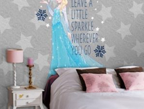 Leave a little sparkle wherever you go, Frozen Παιδικά Ταπετσαρίες Τοίχου 100 x 100 εκ.