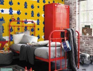Κίτρινο μοτίβο, Μickey Mouse!! Παιδικά Ταπετσαρίες Τοίχου 100 x 100 εκ.