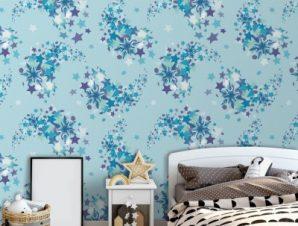 Frozen pattern με αστέρια Παιδικά Ταπετσαρίες Τοίχου 100 x 100 εκ.