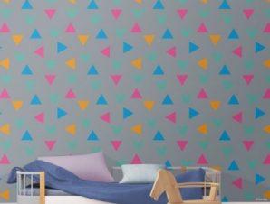 Πολύχρωμο μοτίβο με MIckey Mouse Παιδικά Ταπετσαρίες Τοίχου 100 x 100 εκ.