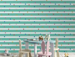 Μοτίβο Mickey Mouse με πολλά χρώματα Παιδικά Ταπετσαρίες Τοίχου 100 x 100 εκ.