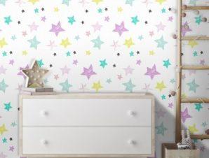 Μοτίβο με αστέρια του Μίκυ Μάους! Παιδικά Ταπετσαρίες Τοίχου 100 x 100 εκ.