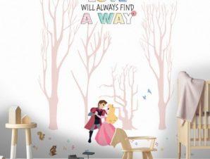 Love always find the way, Princess! Παιδικά Ταπετσαρίες Τοίχου 100 x 100 εκ.