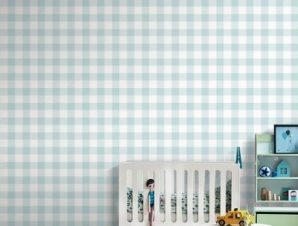 Καρό μοτίβο, Μickey Mouse Παιδικά Ταπετσαρίες Τοίχου 100 x 100 εκ.