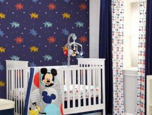 Αστεράκια, Mickey Mouse! Παιδικά Ταπετσαρίες Τοίχου 100 x 100 εκ.