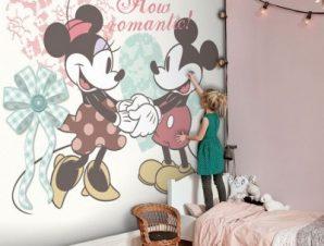 Πόσο ρομαντικό!! Mickey Mouse Παιδικά Ταπετσαρίες Τοίχου 100 x 100 εκ.