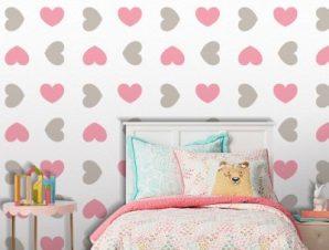 Καρδιές, Mickey Mouse! Παιδικά Ταπετσαρίες Τοίχου 100 x 100 εκ.