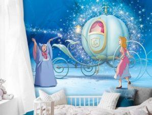 Η Σταχτοπούτα και η Νεράιδα! Παιδικά Ταπετσαρίες Τοίχου 100 x 100 εκ.