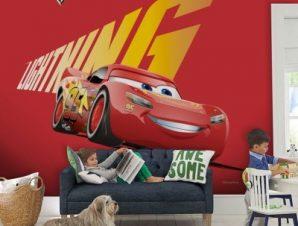 Lighting Mcqueen, Cars Παιδικά Ταπετσαρίες Τοίχου 100 x 100 εκ.
