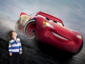 Mcqueen, Cars Παιδικά Ταπετσαρίες Τοίχου 100 x 100 εκ.