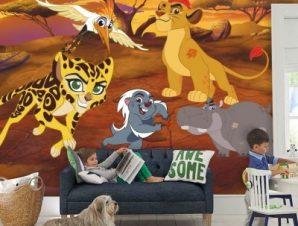 Η φρουρά των λιονταριών στη ζούγκλα, The Lion Guard Παιδικά Ταπετσαρίες Τοίχου 100 x 100 εκ.