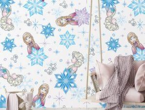 Elsa & Anna Παιδικά Ταπετσαρίες Τοίχου 100 x 100 εκ.